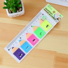 The Best Sweet Colorful Macaroon Self-adhesive Memo Pad Sticky Notes Bookmark School Office Supply Bookmark Paper Sticker Size 6.5*6cm Clear-Cut Texture Notebooks & Writing Pads Office & School Supplies