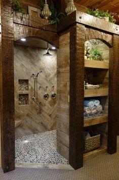 Rustic Bathroom Designs, Rustic Bathrooms, Shower Designs, Luxury Bathrooms, Design Bathroom, Cheap Bathrooms, Amazing Bathrooms, Master Bathrooms, Small Bathrooms
