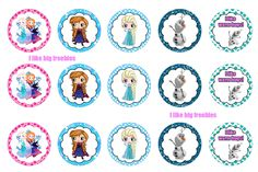 I like big freebies: Frozen bottlecap images