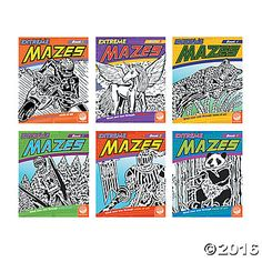 Prepare to get lost in our complete collection of one-of-a-kind mazes. Extreme Mazes aren't like the typical puzzles you'd find in a regular activity book, these feature beautifully designed original illustrations that become a brain-twisting challenge. Each book contains 23 unique designs that double as clever, complex mazes that will have you winding your way through works of art! #MindWareToys #MindWareExclusive
