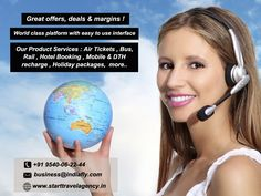 Great offers, deals & margins ! World class platform with easy to use interface Our Product Services : Air Tickets , Bus Rental , Hotel Booking , Rail ticket, Mobile recharge , Holiday packages, DTH recharge more ... http://www.starttravelagency.in/