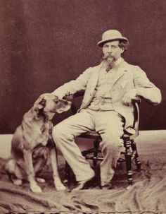 Charles Dickens with his devoted dog Turk
