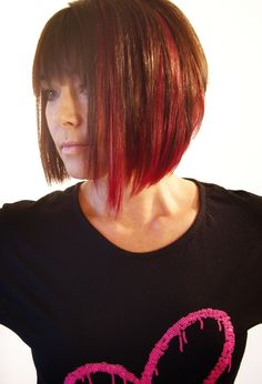 Racoon Hair extensions by Karen Silk Red extensions introduced to add interest/colour and texture