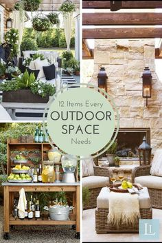 With summer just around the corner, it's important to have a great place where you can enjoy the outdoors. Creating a functional and stylish outdoor living space is not much different than creating an indoor one, you just have to focus on how you plan to use the space, and what you will need to make it comfortable and inviting. This is why we have rounded up our favorite outdoor essentials to help you create the patio of your dreams!
