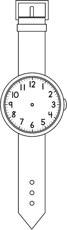 CLOCK_WATCH_BW.bmp (508×1742) Teaching Time, Teaching Math, Maths, Inquiry Based Learning, Home Learning, Math Clock, Playgroup Activities, Alphabet Phonics, Homeschool
