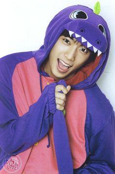 Awwww gongchan my little dinosaur♡♡♡♡♡♡♡