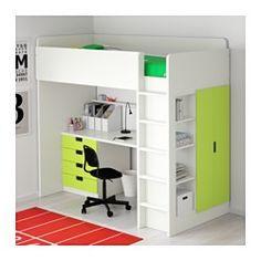 STUVA Parvikokonaisuus, 4 laatikkoa/2 ov, valkoinen, vihreä - 207x99x193 cm - IKEA