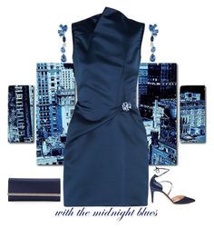 """Midnight"" by easy-dressing ❤ liked on Polyvore featuring Rupert Sanderson, Roland Mouret, LE VIAN, Judith Leiber, Oliver Gal Artist Co., midnight, WhatToWear, sapphire and polyvoreeditorial"