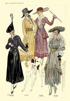 edwardian women's suits | Edwardian Ladies 1917 Butterick Patterns Fashion Poster Lithographs ...