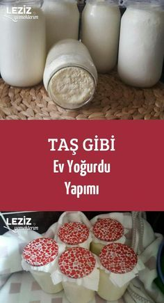 Stone-like home yogurt making – my delicious food - Einfach Healthy Foods To Eat, Healthy Eating, Healthy Recipes, Kefir Recipes, Iftar, Turkish Recipes, Homemade Beauty Products, Yogurt, Breakfast Recipes