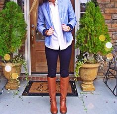 Perfect preppy outfit for fall!