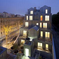 'M' BUILDING, HOUSING, 20 FLATS, PARIS - STEPHANE MAUPIN ARCHITECTURE + DESIGN