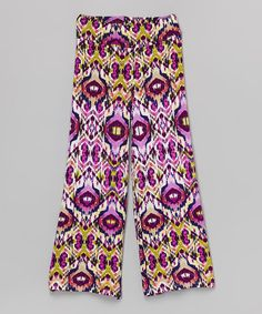 Another great find on #zulily! Lavender Ikat Palazzo Pants - Toddler & Girls by Pink Vanilla #zulilyfinds