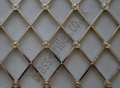 I love using this metal mesh in lieu of glass inserts in kitchen cabinets