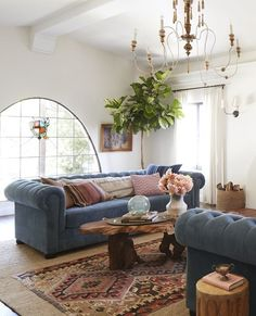Rustic Spanish California Home – The Living Room