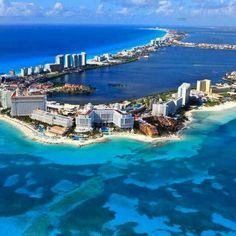 Cancun Mexico is Voted In the top 25 beach destinations in the world. Cancun Mexico, a Mexican city on the Yucatan Peninsula bordering the Caribbean Sea, is Vacation Places, Vacation Destinations, Dream Vacations, Vacation Spots, Places To Travel, Vacation Travel, Travel List, Budget Travel, Family Travel