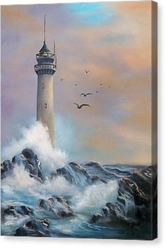 Lighthouse Canvas Print by Joni McPherson