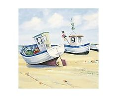 Toile sur châssis FISHING BOATS, - 60*60
