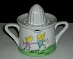 ~Vintage Jack & Jill Two Piece Porcelain Japan Juice Reamer~
