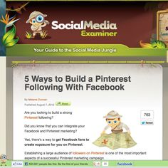 Click here to check out my tips on the Social Media Examiner: http://www.socialmediaexaminer.com/build-a-pinterest-following-with-facebook/