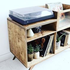 """Nspira on Instagram: """"This amazing tv unit has been adapted to the needs of our client who is a collector of vinyls.  Minor design changes, and what an amazing…"""" Vinyl Record Cabinet, Vinyl Record Storage, Vinyl Record Collection, Home Studio Music, Dj Equipment, Tv Unit, Vinyls, Men Bedroom, Music Rooms"""