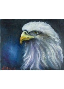 """Ölmalerei """"Adler"""""""