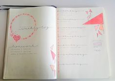 pink triangle themed weekly log