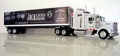 Kenworth-W900-Caminhao-em-Metal-Fundido-Jack-Daniels-truck-trailer-Graficos-Personalizados