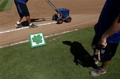 Shamrock-emblazoned base is about the only positive going for the Mets today in spring training.