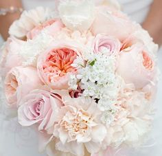 Sweet. Subtle. If I went with the lighter colored bouquet for the bride