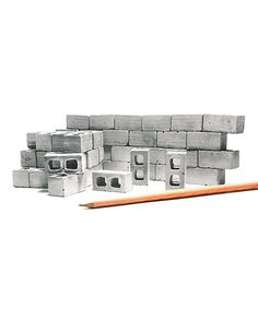 Another great find on #zulily! 1:12 Scale Cinder Block - Set of 50 #zulilyfinds