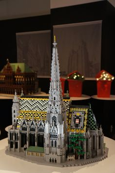 """""""Historic Centre of Vienna"""" Lego Worlds, Lego Architecture, Lego Technic, Lego Building, Lego Brick, Lego Creations, Legos, Making Out, Cathedrals"""
