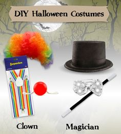 Check out our DIY Halloween costumes, ranging from $20 all the way down to just $5! Choose from a clown, magician, and more!