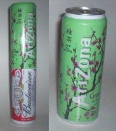 Hide a beer using an Arizona Iced Tea can! WOW!!