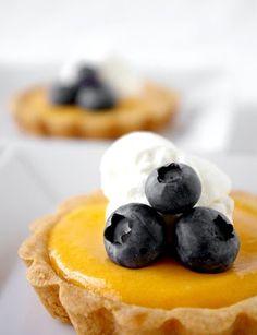Mango curd tarts.  Uses for leftover egg yolks.