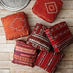 Old oriental rugs up cycled to be cushions. I'm sure the Persians have been doing this for years.
