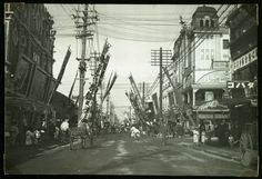 Theatre Street, Yokohama, Japan.  Part of a collection which belonged to journalist Holger Rosenberg.  No. es_b_00606