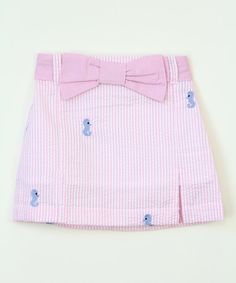 Look at this Lil Cactus Pink Stripe Seahorse Skirt - Infant, Toddler & Girls on #zulily today!
