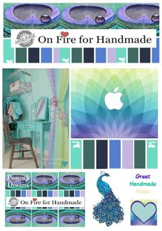 Peacock Dreams Great Handmade Finds contest is filled with beautiful Handmade creations in the stunning colors Teals, purples, muted yellows.