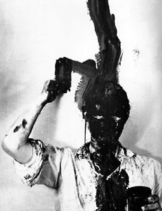 Gunter Brus - Self Painting, 1965