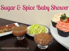 Fun food  activity ideas for a Sugar  Spice Baby Shower! #BabyShower
