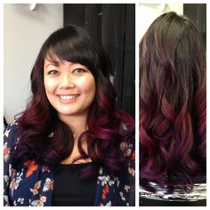 Dimensional Color (Pink and Purple Ombre) & Cut by Artistic Stylist Chris. Let's create magic together today! :) 714.952.2030