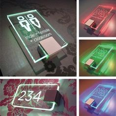 Lumos illuminated signs and signage panels comes in a wide range of energy efficient LED colours Environmental Graphic Design, Environmental Graphics, Wc Sign, Sign Solutions, Wayfinding Signs, Illuminated Signs, Sign System, Design Industrial, Led Signs