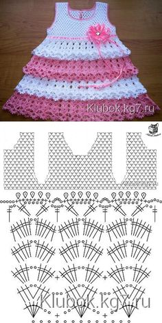 Captivating Crochet a Bodycon Dress Top Ideas. Dazzling Crochet a Bodycon Dress Top Ideas. Crochet Baby Dress Pattern, Baby Dress Patterns, Baby Girl Crochet, Crochet Baby Clothes, Baby Knitting Patterns, Crochet Patterns, Crochet Designs, Diy Crafts Knitting, Knit Baby Sweaters