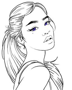 Bird Coloring Pages, Adult Coloring Pages, Coloring Books, Female Images, Lady Images, Cute Wall Decor, Bff Drawings, Fantasy Girl, Learn To Paint