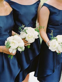 Navy bridesmaid dresses Navy Wedding Theme Navy Wedding Ideas Navy Wedding Inspiration Navy Wedding Colour Scheme Colour pallette Navy Wedding Styling Navy Wedding Photos Navy Wedding Decor Navy Wedding Examples by Sail and Swan Cabin Wedding, Mod Wedding, Sage Wedding, Green Wedding, Navy Blue Bridesmaid Dresses, Bridesmaid Flowers, Wedding Bouquets, Wedding Flowers, Wedding Dresses