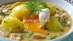 Vepřová plec pečená pomalu společně s bramborami a mrkví – U Miládky v kuchyni Cheeseburger Chowder, Cooking Recipes, Menu, Food, Menu Board Design, Chef Recipes, Hoods, Meals, Menu Cards