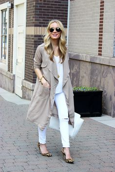 STYLE // Neutral Duster Coat - Style CuspStyle Cusp