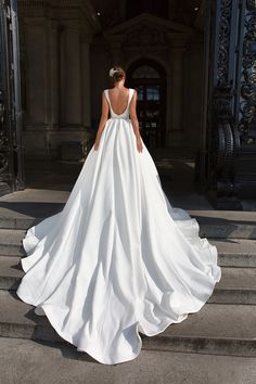 d184287af993 2019 Scoop A Line Wedding Dresses Satin With Beaded Waistline Chapel Train  US$ 249.00 CMDPL4GSNE9