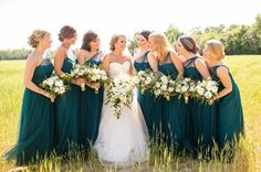 18 Ideas for wedding themes spring teal bridesmaid dresses Dark Teal Weddings, Teal And Grey Wedding, Purple Wedding Flowers, Wedding Colors, Turquoise Weddings, Wedding Coral, Wedding Dj, Wedding Veils, Wedding Hair
